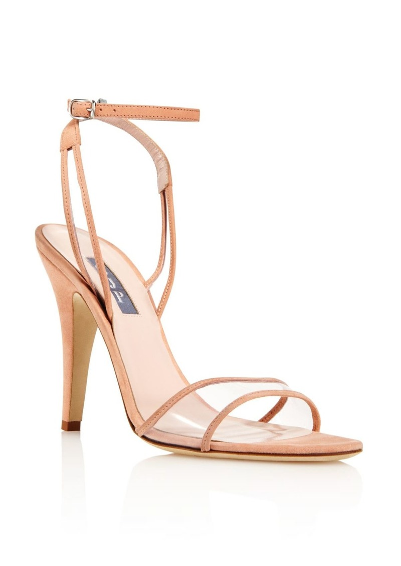 abe7057f08c by Sarah Jessica Parker Women's Queen Suede Illusion High-Heel Sandals -  100% Exclusive
