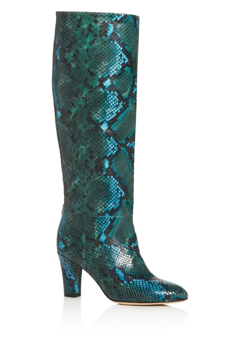 SJP by Sarah Jessica Parker Women's Rayna Snake-Embossed High-Heel Boots - 100% Exclusive