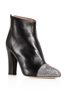 SJP by Sarah Jessica Parker Women's Rumi Leather Cap Toe High-Heel Booties
