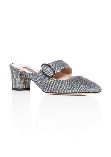 SJP by Sarah Jessica Parker Women's Vamp Glitter Square-Toe Mules