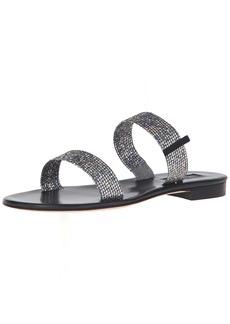 SJP by Sarah Jessica Parker Women's Wallace Double Strap Flat Slide Sandal  40 EU/ M US