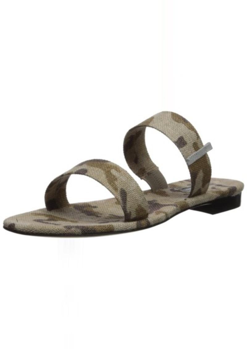 SJP by Sarah Jessica Parker Women's Wallace Double Strap Flat Slide Sandal camo Linen 40.5 B EU (10 US)
