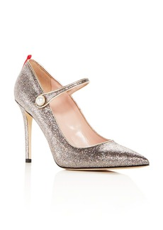 SJP by Sarah Jessica Parker Women's Wellington Glitter Mary Jane High-Heel Pumps
