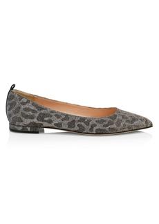 SJP Story Leopard Glitter Ballet Flats