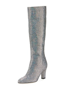 SJP Studio Sparkle Holographic Knee-High Boot
