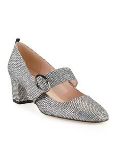 SJP Tartt Sparkly Mary Jane Pump  Black/Silver