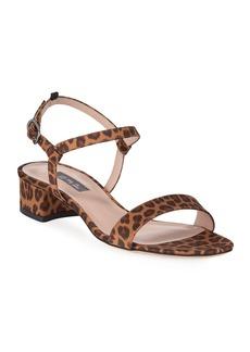SJP Townsend Leopard-Print Silk Sandals