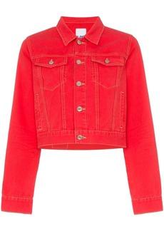 SJYP cropped fitted denim jacket