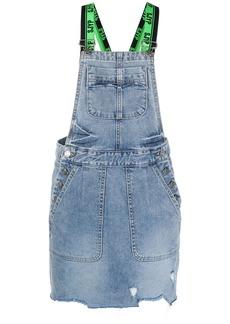 SJYP denim overall mini dress