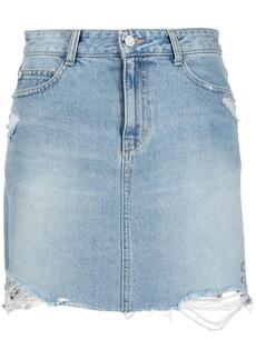 SJYP dino print denim skirt