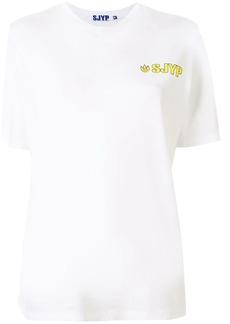 SJYP flame logo print T-shirt