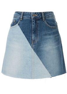 SJYP panelled denim skirt