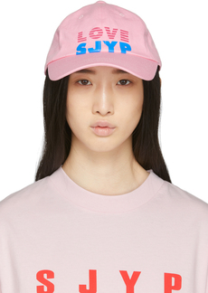 SJYP Pink 'Love' Logo Cap