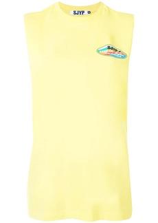 SJYP sleeveless logo T-shirt