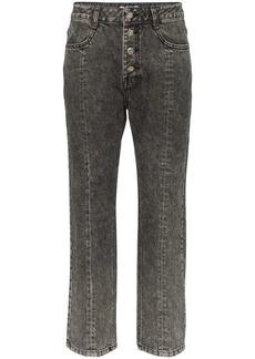 SJYP washed denim cropped jeans