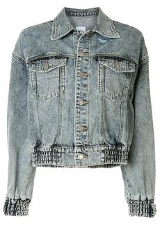 SJYP washed short jacket