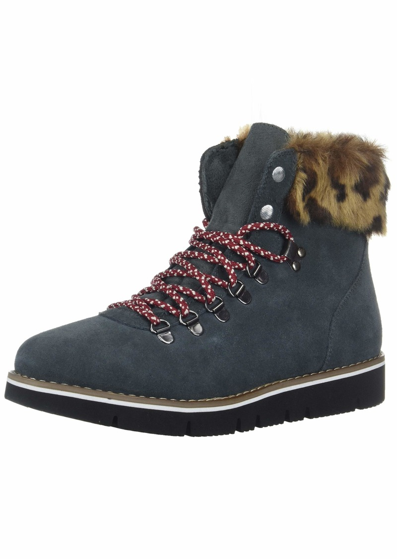 BOBS from Skechers Women's Bobs Rocky. Fashion fur trim hiking boot w memory foam Boot charcoal  M US