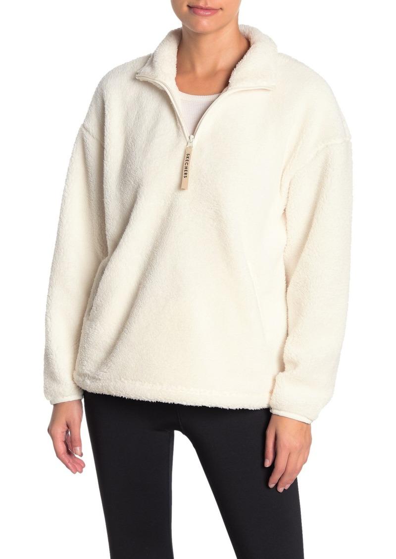 Skechers Fleece Quarter Zip Sweater