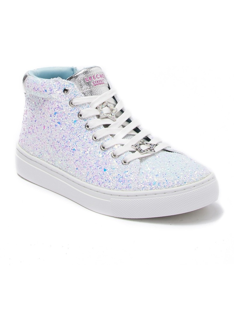 Skechers Sidestreet Glitter Star Embellished Sneaker (Toddler, Little Kid & Big Kid)