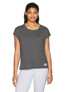 Skechers Active Women's Cropped Drap Short Sleeve Tee  M