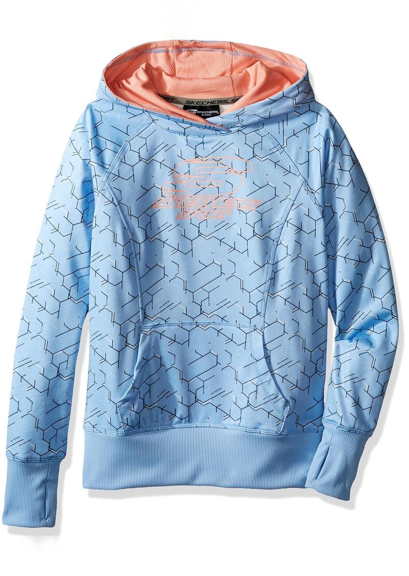 Skechers Big Girls' Sport Pullover Hooded Top