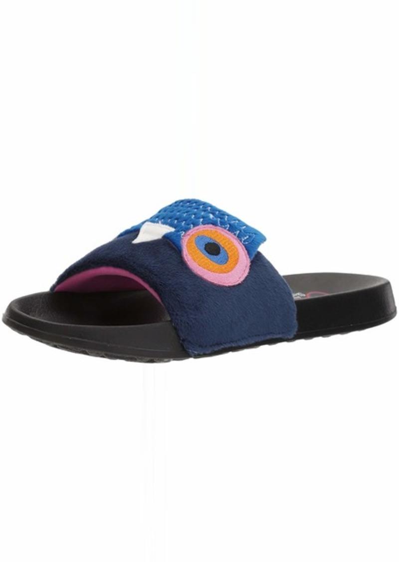 Skechers BOBS Women's 2nd Take-Plush Animal Slide Sandal   M US