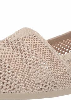 Skechers BOBS Women's Bobs Plush-Engineered Knit Slip on Ballet Flat NAT  M US