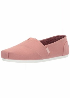 Skechers BOBS Women's Bobs Plush-Peace & Love-Canvas Slip on Ballet Flat   M US