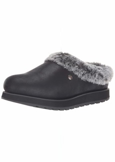 Skechers BOBS Women's Keepsakes-R E M Wide Width Faux Fur Lined Shootie with Memory Foam Slipper  11 W US