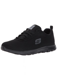 Skechers for Work Women's Ghenter Bronaugh Work and Food Service Shoe BLACK  M US