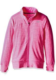 Skechers Big Girls' Space Dye Mock Neck Track Jacket  L