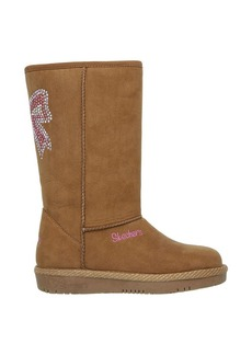 """Skechers® Girls' """"Glam Slam Bow Glow"""" Casual Boots"""