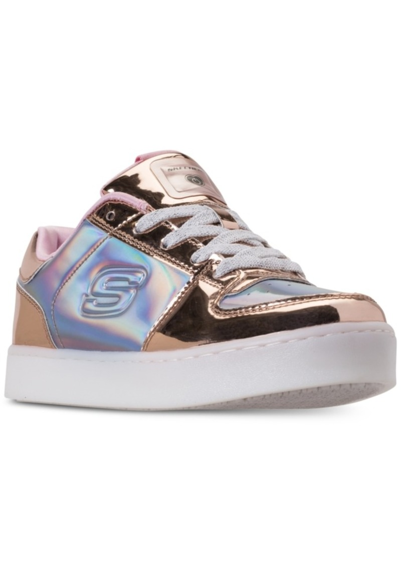 4e6ca5c180e7 Girls  S Lights  Energy Lights Shiny Sneaks Light-Up Athletic Sneakers from  Finish Line. Skechers