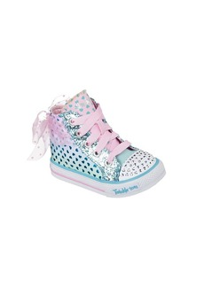 "Skechers® Girls' ""Twinkle Toes: Shuffles - Pixie Bunch"" High Top Sneakers"