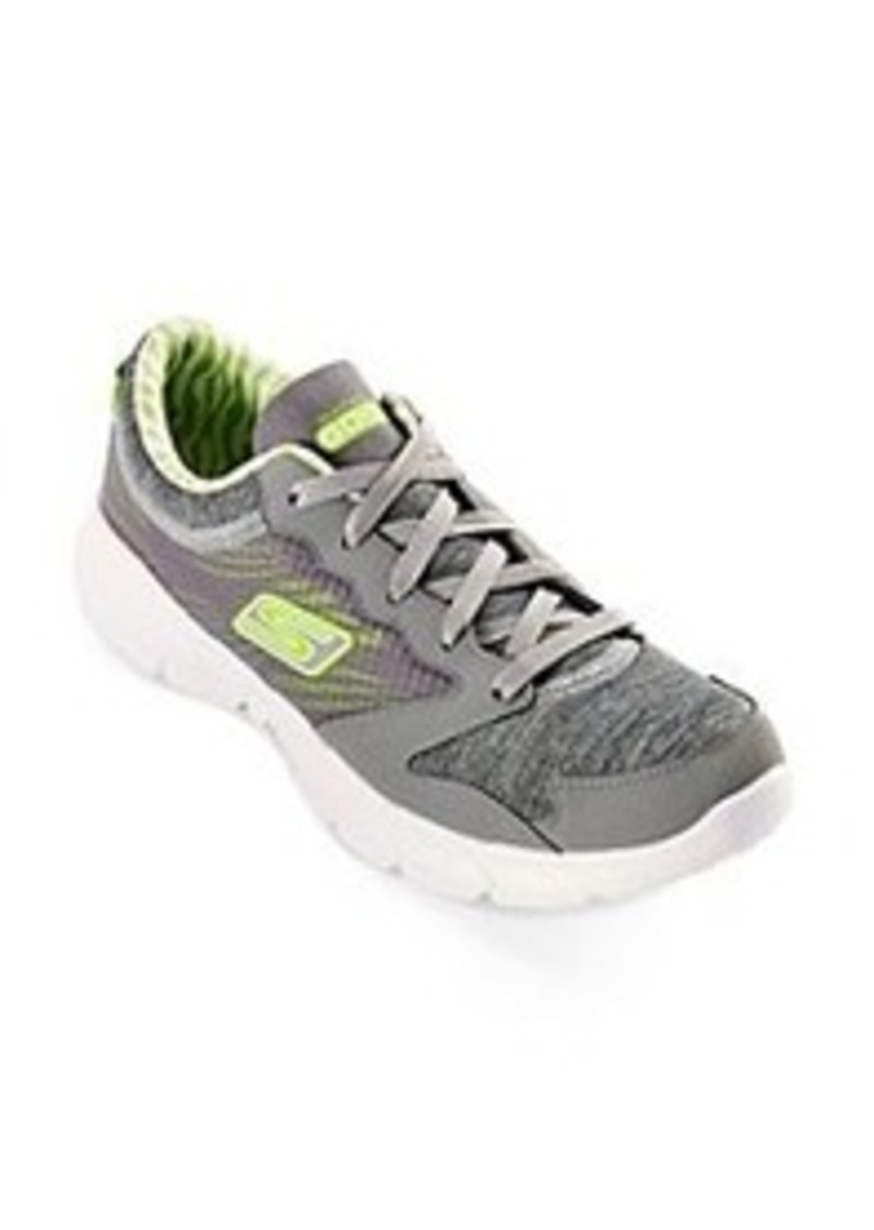 "Skechers® GOfit® ""Workout Craze"" Athletic Shoes - Grey/Lime"