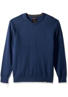 Skechers Golf Men's Fairway Long Sleeve V Neck Cottom Cashmere Sweater Vest Blue iris M