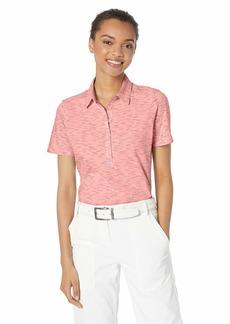 Skechers Golf Women's Spacedye Heathered Short Sleeve Golf Polo II  M