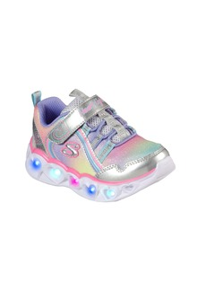 SKECHERS Heart Lights Rainbow Light-Up Sneaker (Walker & Toddler)