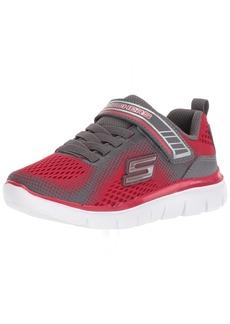 Skechers Kids Boys' Flex Advantage 2.0-GEO Blast Sneaker red/Charcoal 10.5 Medium US Little