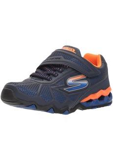 Skechers Kids Boys' Hydro-Static Sneaker navy/orange 11 Medium US Little Kid