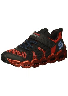 Skechers Kids Boys' MEGA-Flex LITE 2.0 Sneaker Black/red 13.5 Medium US Little