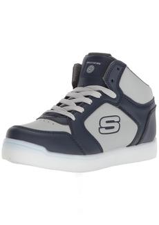 Skechers Kids Boys' Mid Top Lace up Shoe W/Hidden Sneakernavy/grey