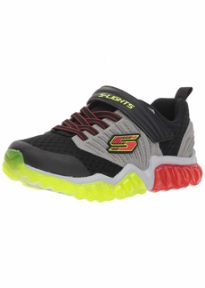 Skechers Kids Boys' Rapid Flash Sneaker Black/Grey/red 2 Medium US Little