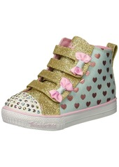 Skechers Kids Girls' Shuffle LITE-Fancy Flutters Sneaker  11 Medium US Little