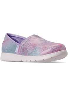 Skechers Little Girls Lil Bobs Pureflex Galaxy Dust Slip On Casual Athletic Sneakers from Finish Line