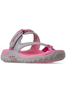 Skechers Little Girls' Reggae - Sparkly Explorer Sandals from Finish Line