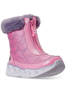 Skechers Little Girls S Lights Happy Hearted Boots from Finish Line