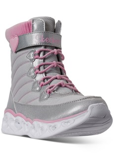 Skechers Little Girls S Lights Heart Chaser Boots from Finish Line