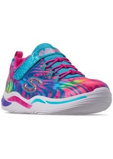 Skechers Little Girls' S Lights: Power Petals - Flowerspark Slip-On Training Sneakers from Finish Line