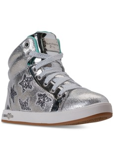 Skechers Little Girls' Shoutouts - Starry Shine High Top Casual Sneakers from Finish Line